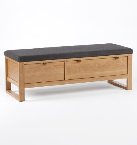 Superbe Highland Storage Bench Oak D0639