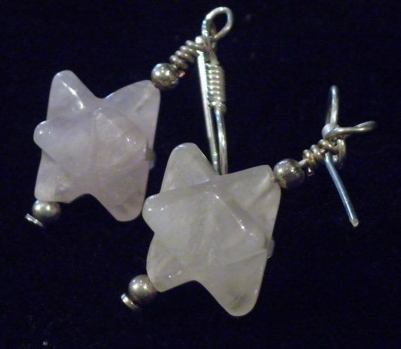 Rose Quartz Merkaba Merkabah Star of David by BarefootAlchemy, $18.00