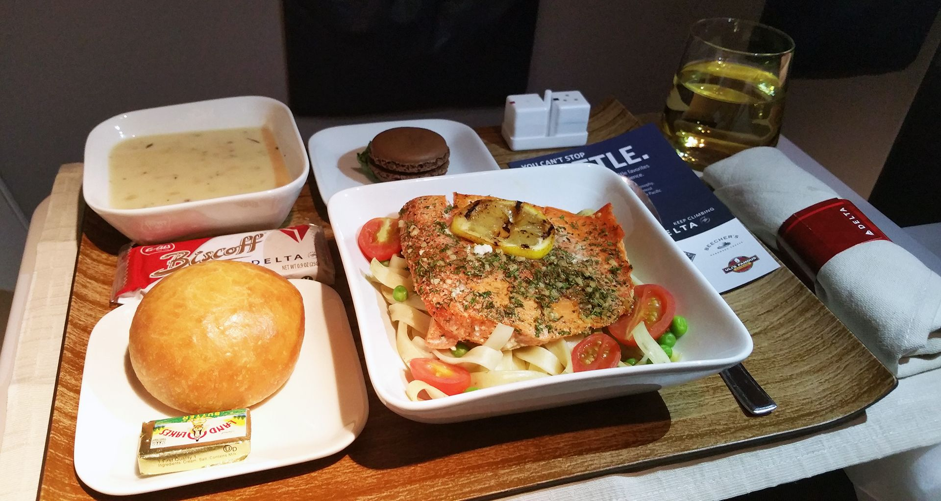 Delta Airlines First Class Meal Inflght In 2019 First