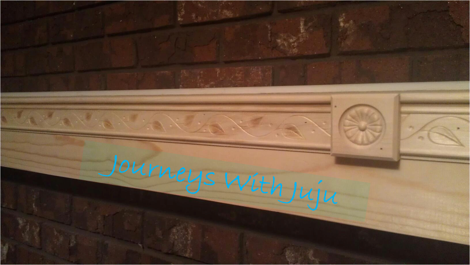 DIY Fireplace Mantle Juju Journeys With Juju Pinterest