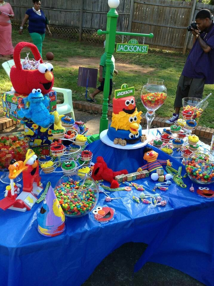 Sesame Street Party Candy Table I Like Money In 2019