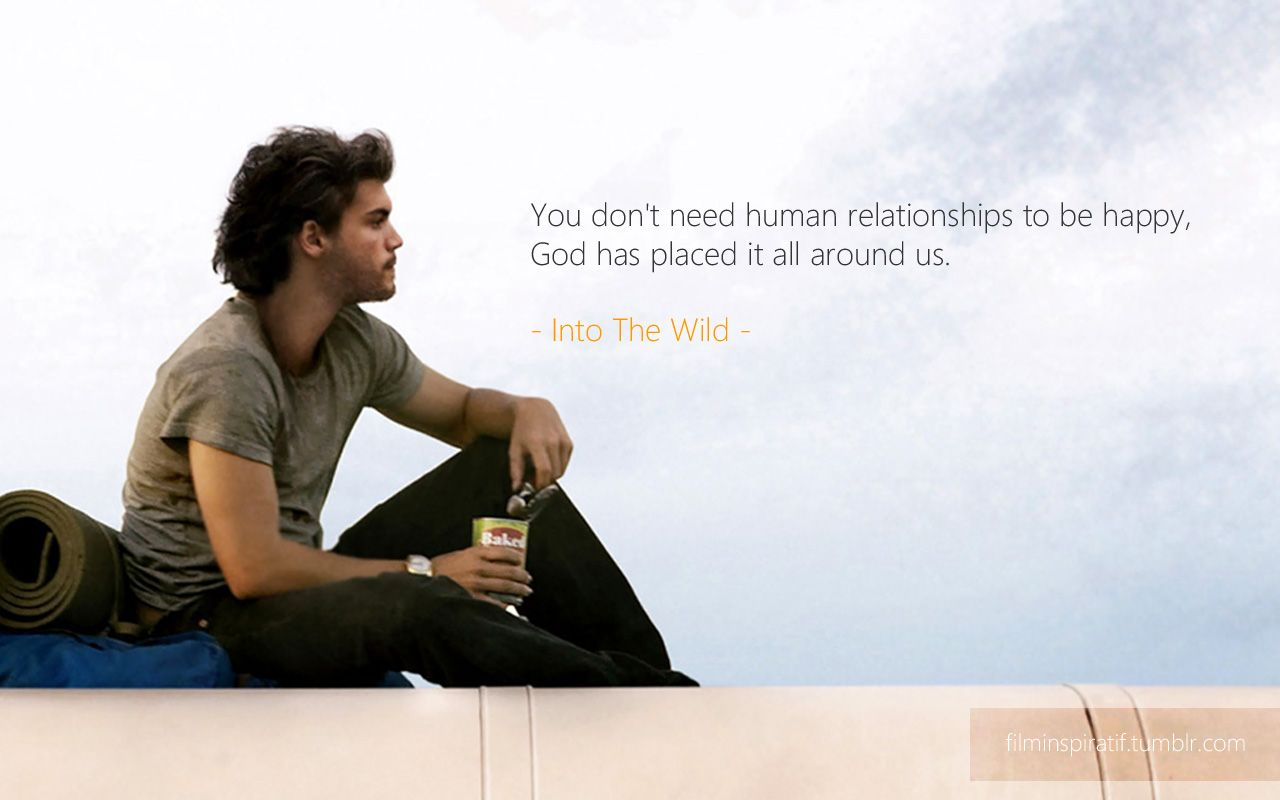 Into The Wild Cinema Art Pinterest Frases Peliculas Frases