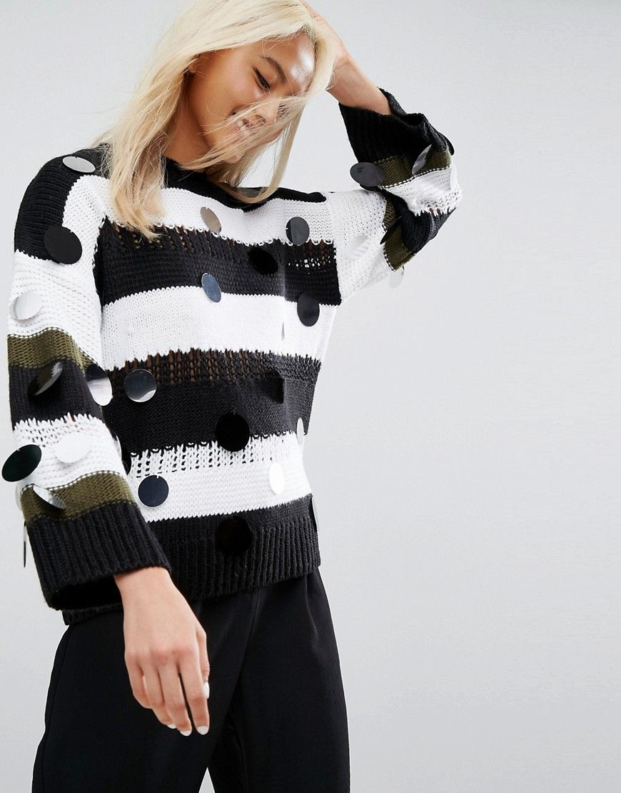 Jumper in Stripe with Embellishment - Multi Asos Sale Footlocker CSfiS8L