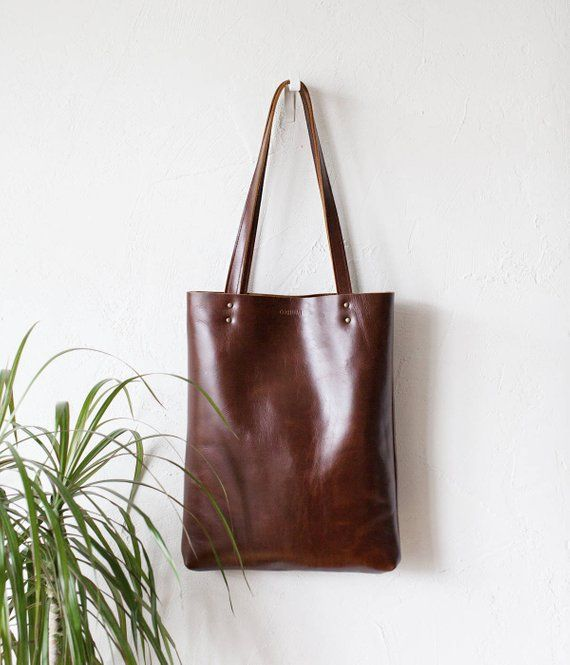 43c5faf1719e Luxury Brown Leather Tote bag No.Tl 17002