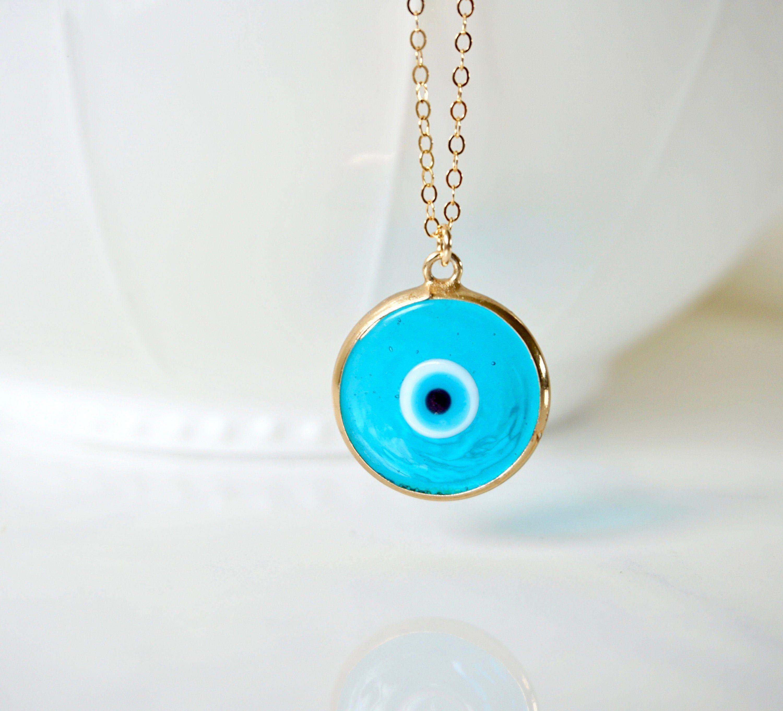 Turquoise And Gold Murano Glass Evil Eye Necklace Blue Evil Etsy Evil Eye Necklace Gold Eye Necklace Evil Eye Pendant