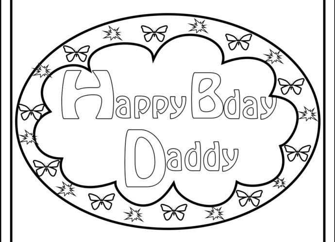Happy Birthday Daddy Coloring Pages | Happy birthday daddy ...