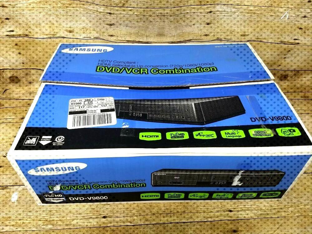 Samsung DVD-V9800 1080p Upconverting VCR Combo DVD Player HD New Open Box