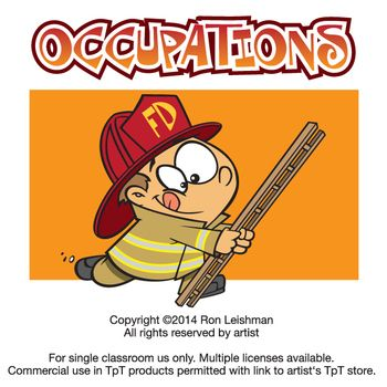 Kids Occupations Cartoon Clipart | Numbers, Cartoon and Clowns