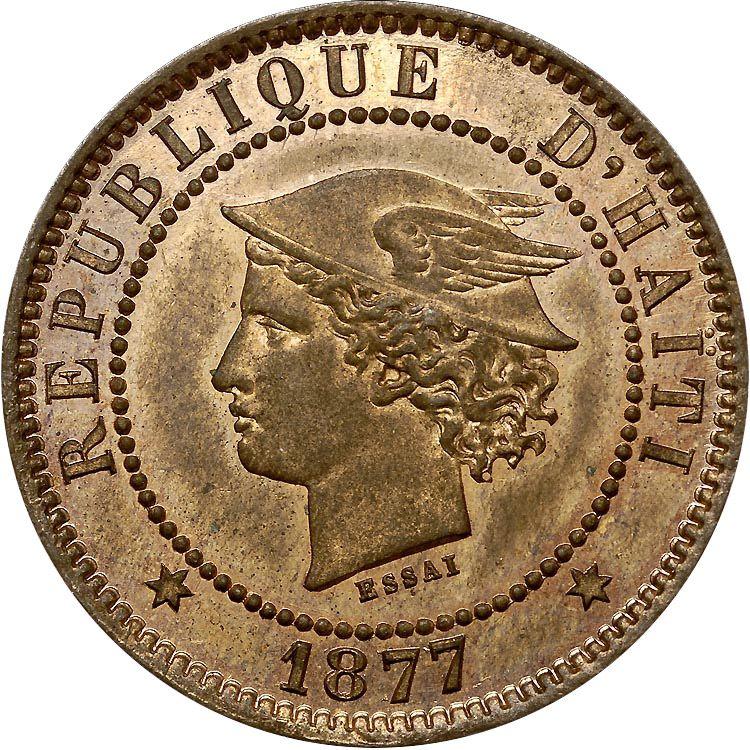 HAITI 20 Centimes KM# Pn75 1877