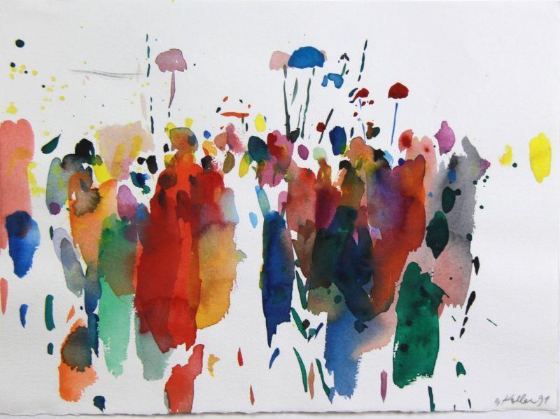 Kunstler Oskar Koller Galerie Minimalist Watercolor