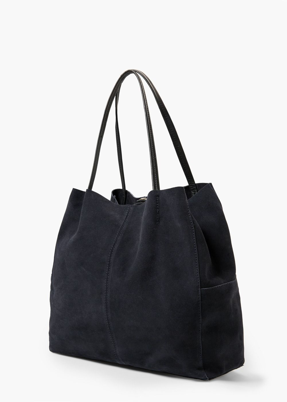 Suede Shopper Bag Women Mango Usa Mode Väskor Väskor Tygkasse