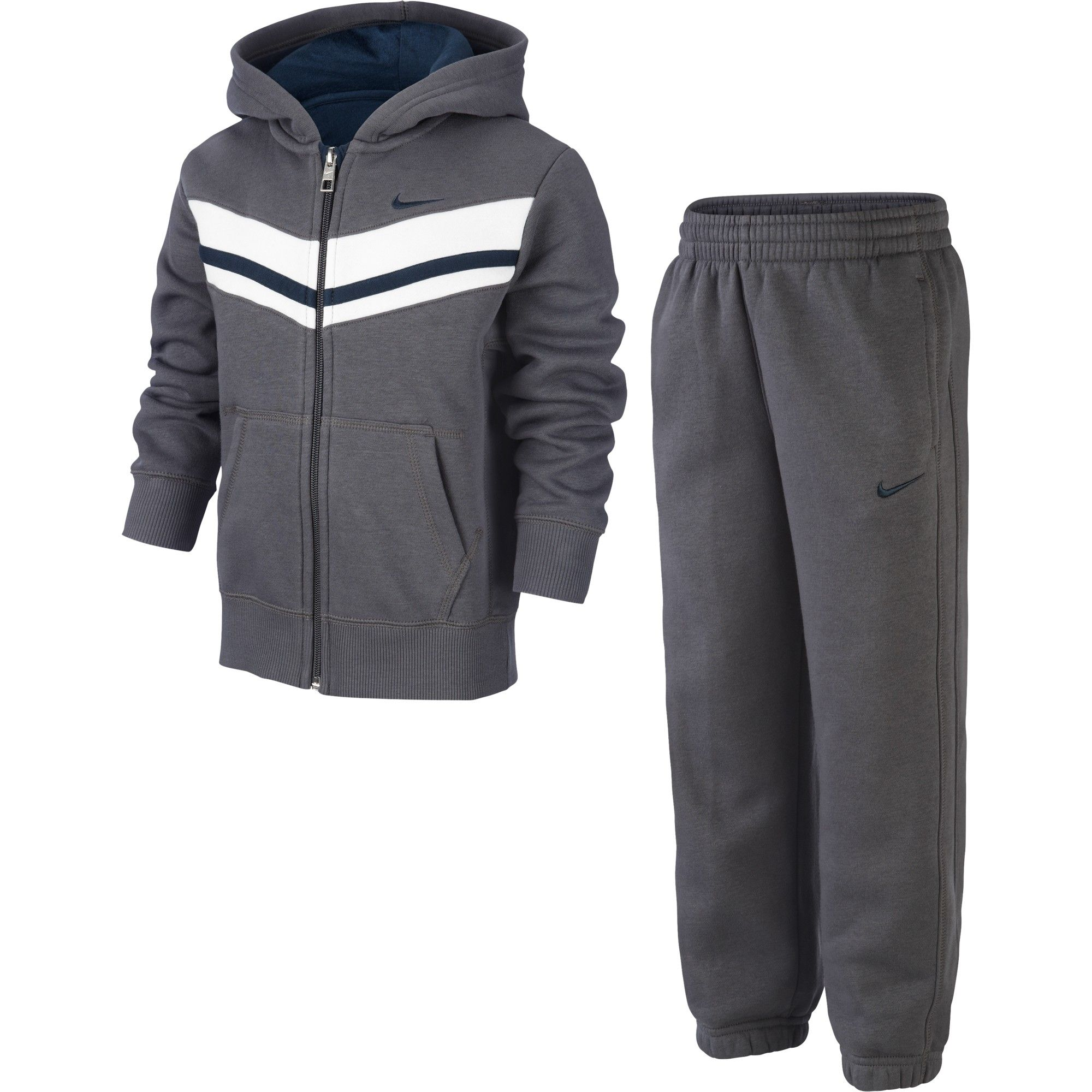 super cheap many styles promo code Branded Nike - Hooded Tracksuit in grey | Suits