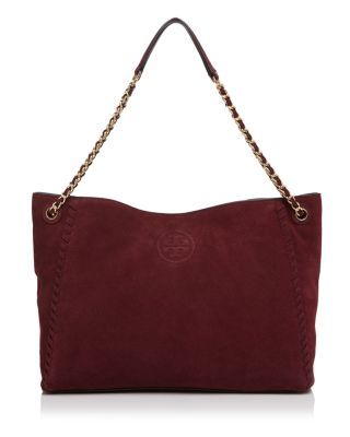 4a38d522c6ad TORY BURCH Marion Suede Chain Shoulder Slouchy Tote.  toryburch  bags  shoulder  bags