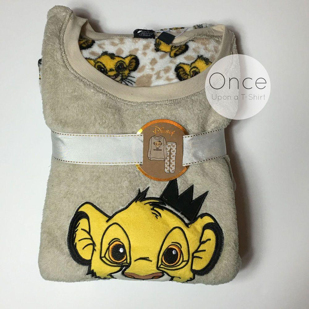 Ladies Simba Fleece Pyjama Lion King Pj/'s Set Disney Cosy Soft 6-20