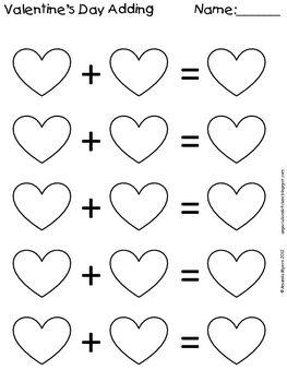Valentine Adding Worksheet Valentine Activities Preschool Valentines Valentines School