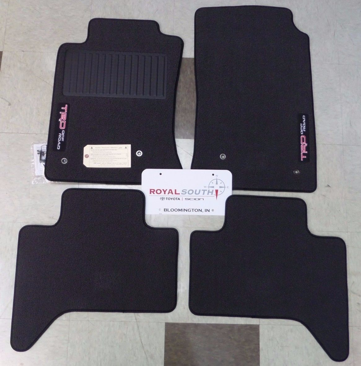 and rear toyota cab trd used mats carpets floor tacoma nice black front mat catalog sale for oem extended set