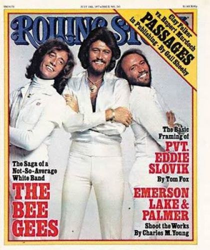 A glimpse at the band the bee gees
