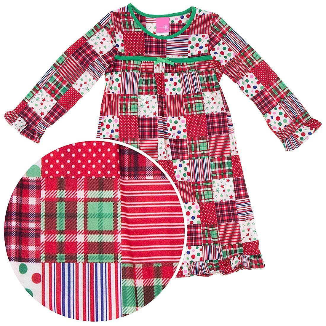 christmas patchwork nightgown for girls girls christmas nightgowns christmas nightgowns matching christmas pajamas