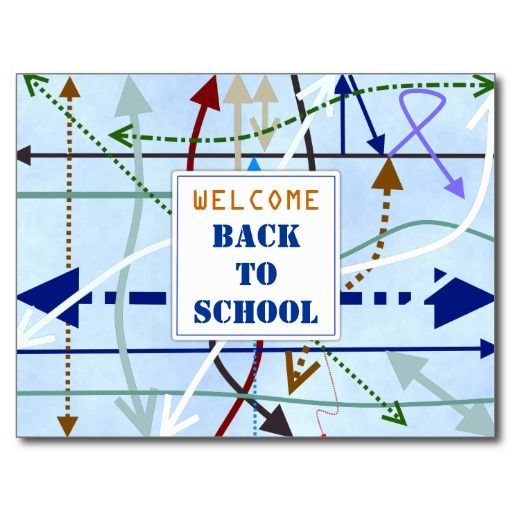 Lines and Arrows Student Welcome Teacher Photo Postcard | Teacher photo