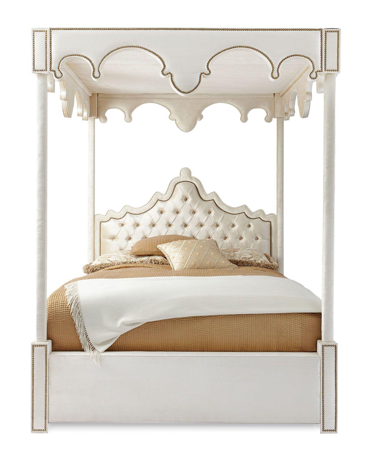Haute House William Queen Canopy Bed Queen canopy bed