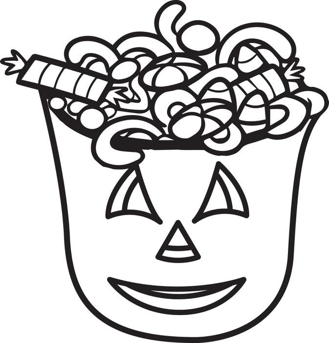 Printable Halloween Candy Coloring Page For Kids Candy Coloring
