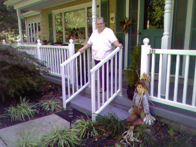 Photos Of Railing For Outside Steps | Railings For Stairs | Iron Hand Rails  | Wooden