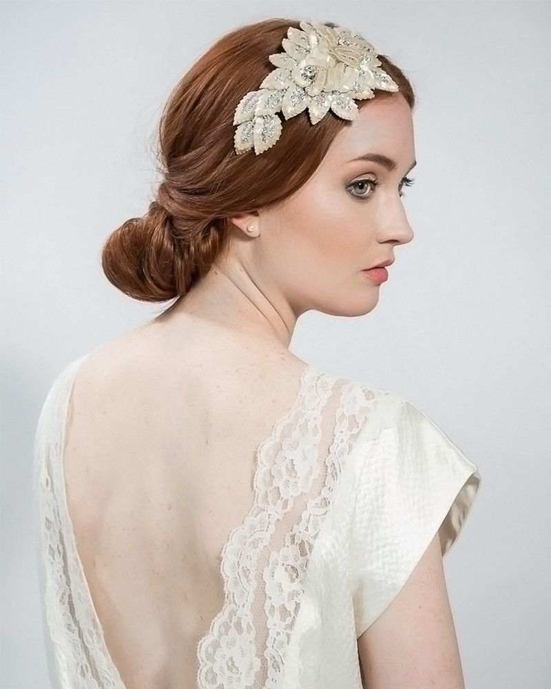statement vintage rose band | weddinggown and bridal veil