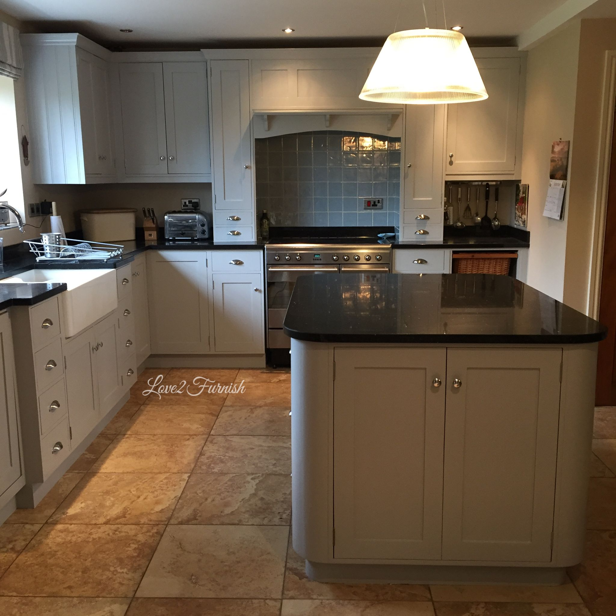 Best Hand Painted Kitchen In Seagull Gray By General Finishes 640 x 480