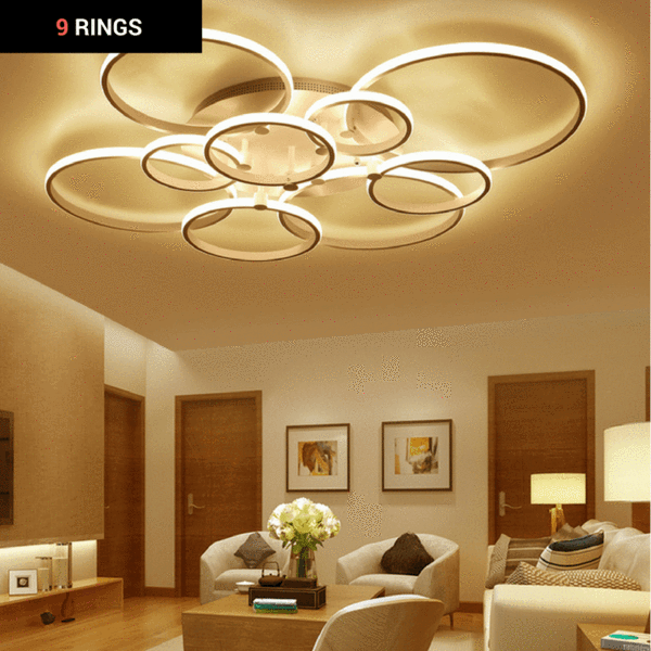 Ceiling Lights & Fans Beautiful Black/white Finished Chandeliers Led Circle Modern Chandelier Lights For Living Room Acrylic Lampara De Techo Indoor Lighting 2019 Latest Style Online Sale 50% Lights & Lighting