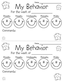 This simple behavior chart is an easy way to keep families