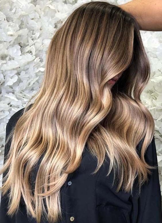 40 Natural Balayage Ombre Highlights For Long Hair 2018 Pinterest
