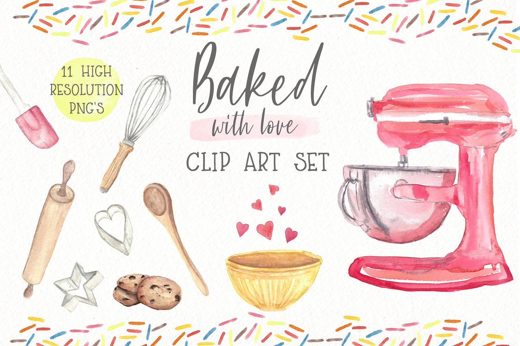 Baking Clipart Set Watercolors Clip Art Watercolor Clipart