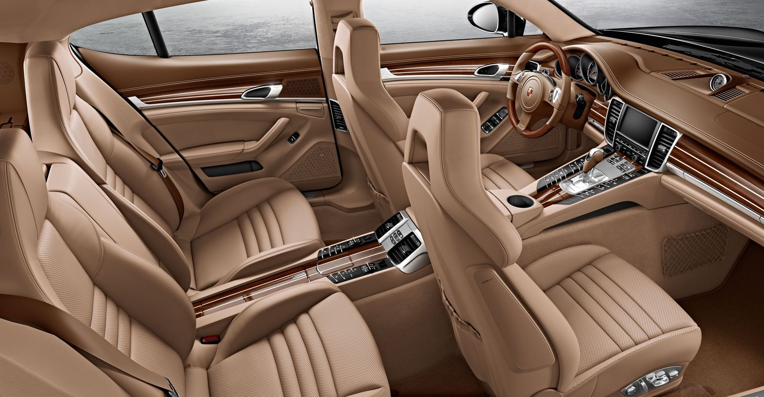 2014 porsche panamera interior car tuning - 2014 Porsche Panamera Turbo S Brown Interior