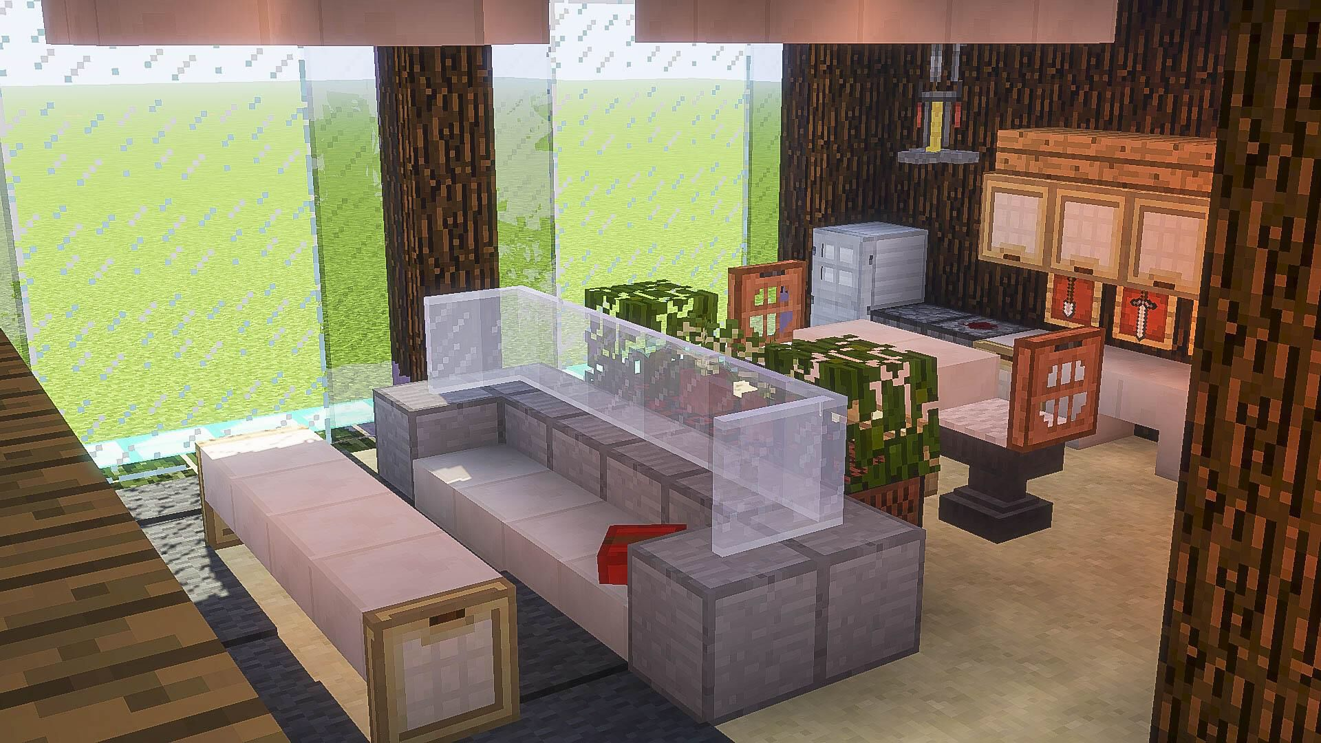 Minecraft Interiors Saving For The Anvils As Chairs Idea Minecraft Interior Design Minecraft Houses Minecraft Mansion