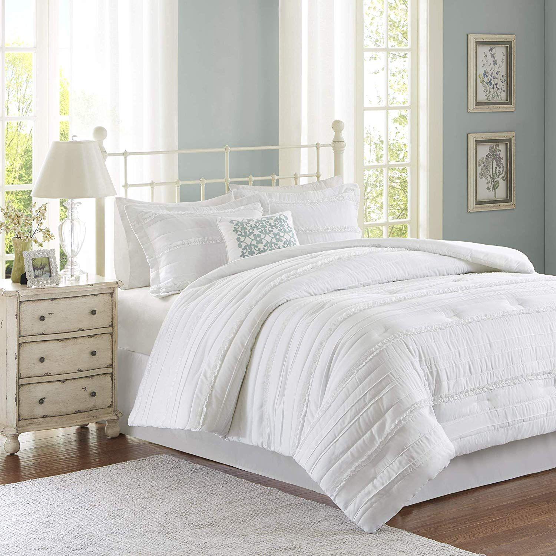 Madison Park Celeste 5 Piece Comforter Set White King Read