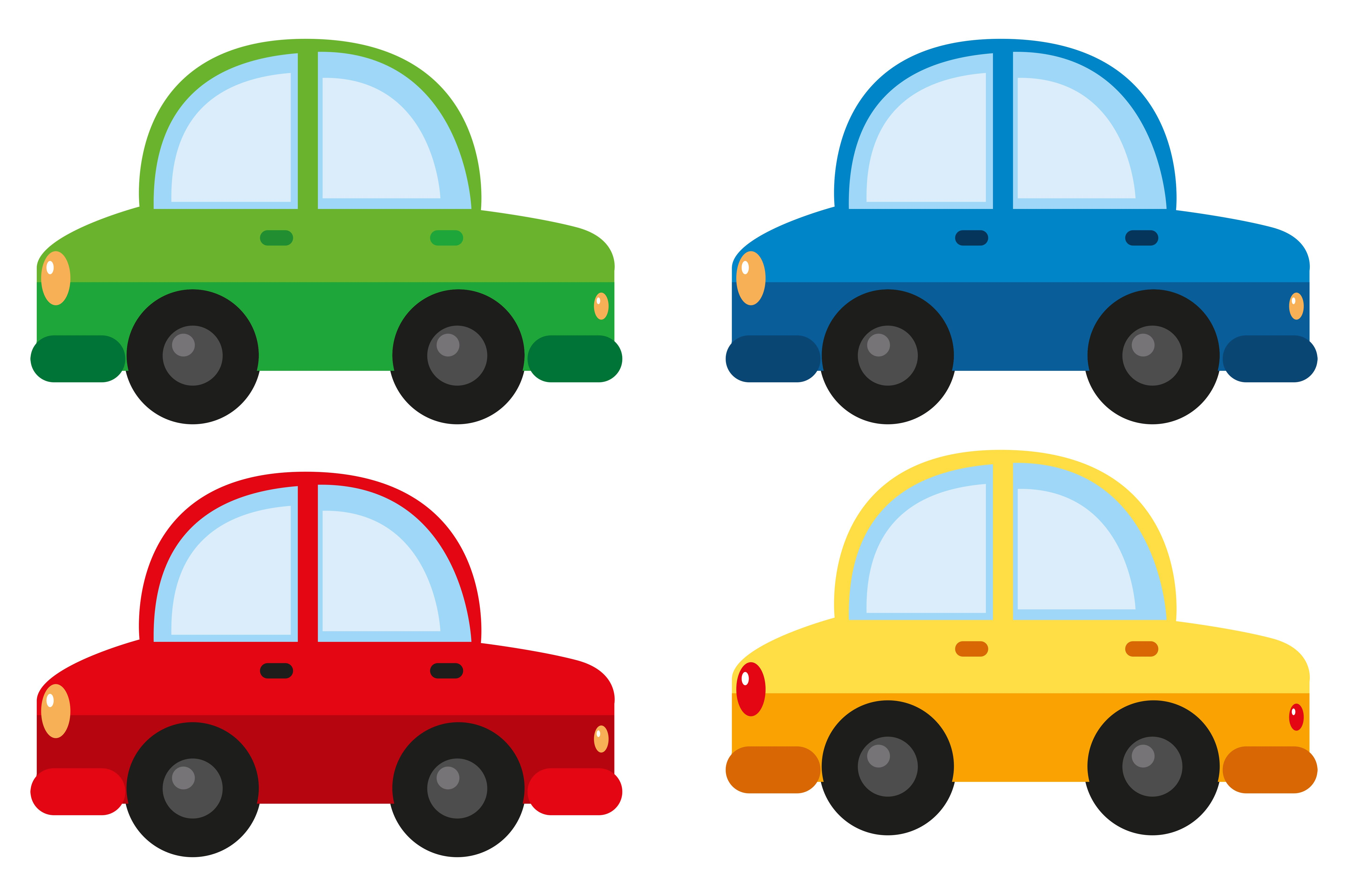 Download Cars In Four Different Colors Vector Art Choose From Over A Million Free Vectors Clipart Graphics Vector Ar Toy Car Party Race Car Party Car Themes