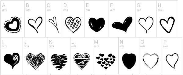 Free Heart Fonts Scrapbook Fonts Dingbat Fonts Heart Font