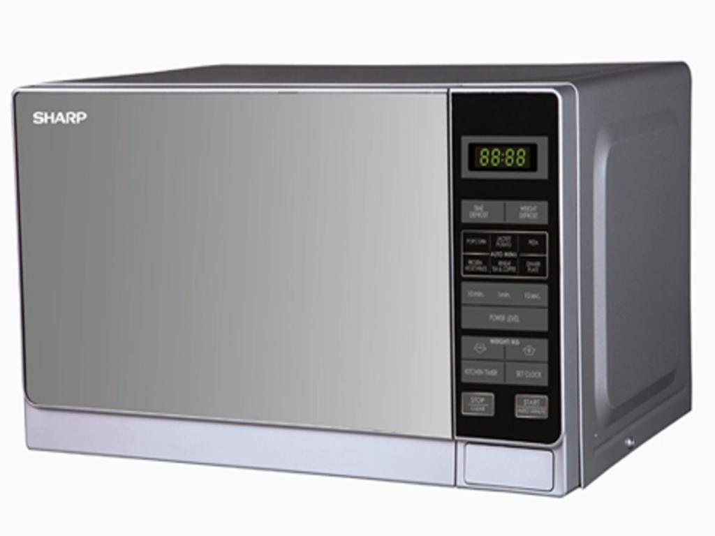 Sharp R-22AO(SM)V 20-Liter Stainless Steel Microwave Oven, 220-volt ...