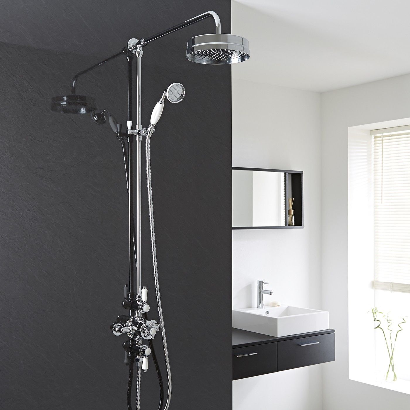 $539 Traditional Triple Exposed Thermostatic Shower Valve with ...