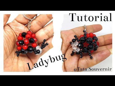 How to Bead Ladybug Keychain/DIY - YouTube