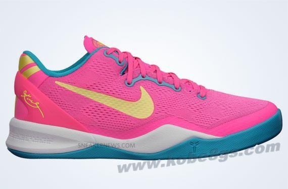 timeless design b3b7a 58ca4 Nike Kobe 8 GS Pink Teal