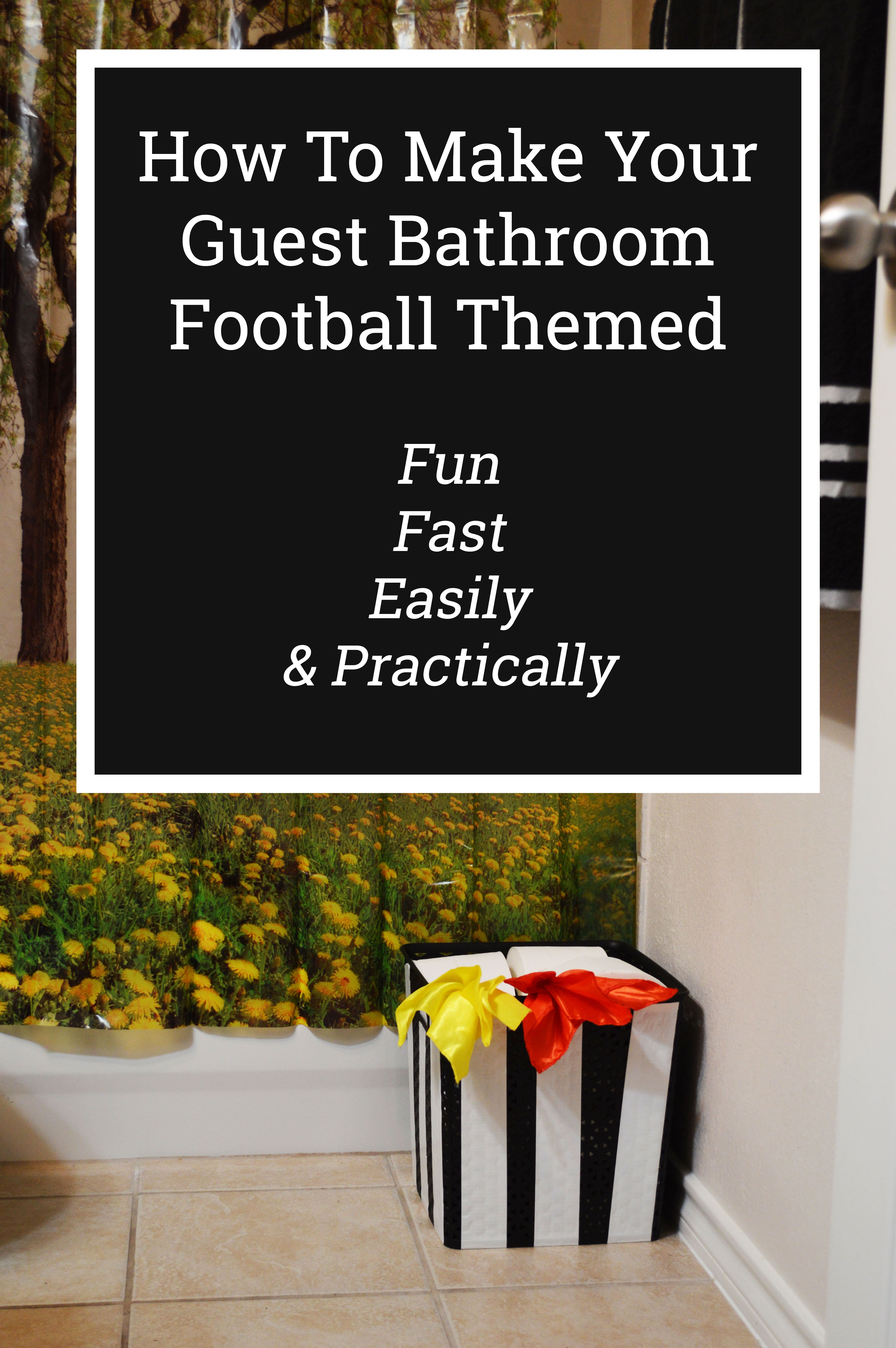 how to make a football themed guest bathroom are you ready for rh pinterest com