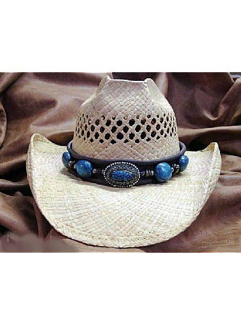 9ef7dd995591e Shady Brady Hats New West Collection Traditional Raffia Straw w Berber Bead  Band 1WW52 Natural straw cowboy hat