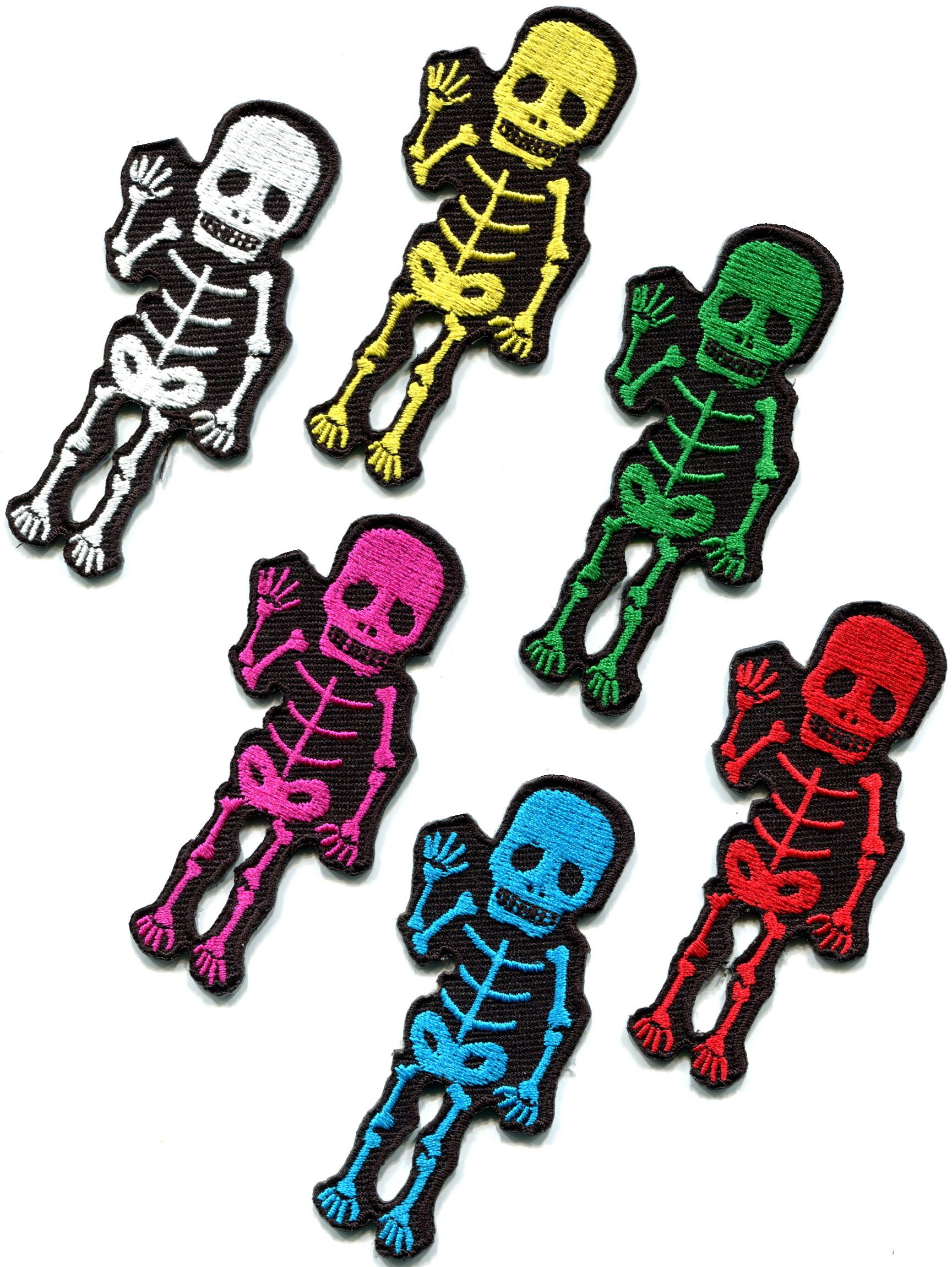 Details About Lot Of 6 X Ray Skeleton Skull Goth Punk