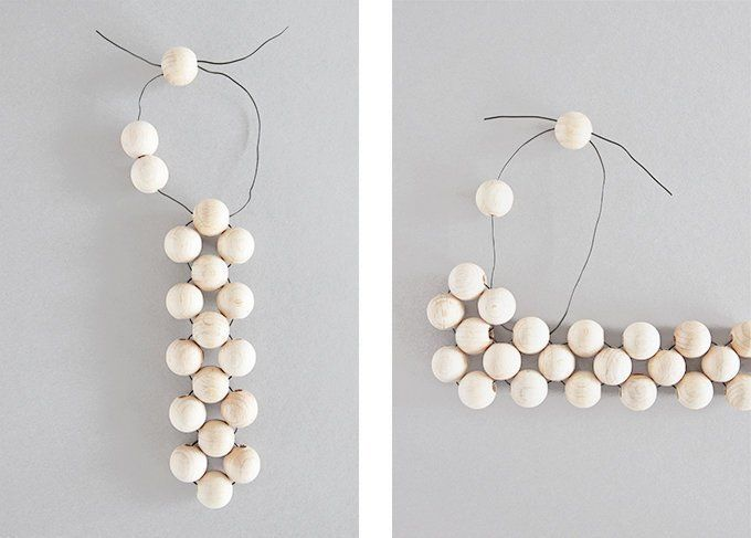 Photo of In 5 steps to a pretty DIY coaster made of wooden balls