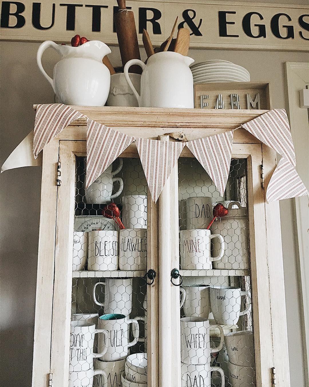 Farmhouse Style Cupboard Rae Dunn Collection Diy