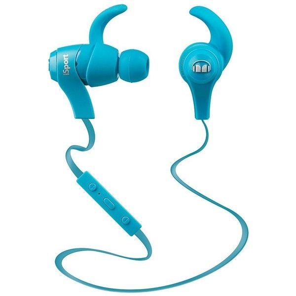 Monster iSport Bluetooth Wireless Earbuds, Blue (€89) ❤ liked on ...