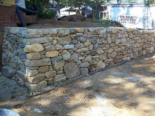 Dry Laid Retaining Wall Dry Stone Wall Retaining Wall Landscape Curbing