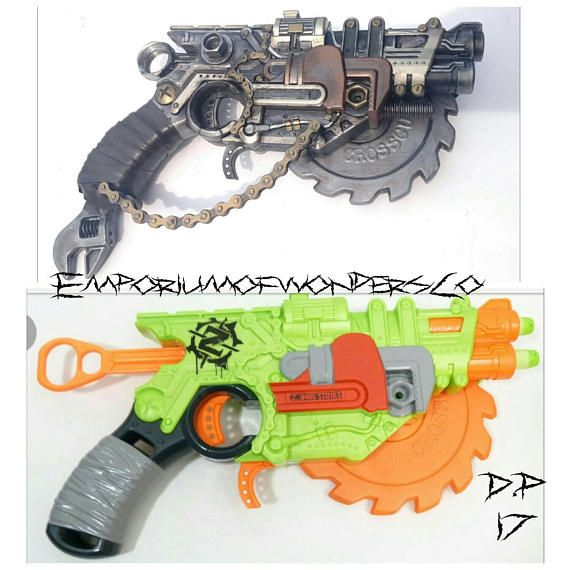 Nerf Crosscut custom scrapper of hero's Check out this item in my Etsy shop  https: