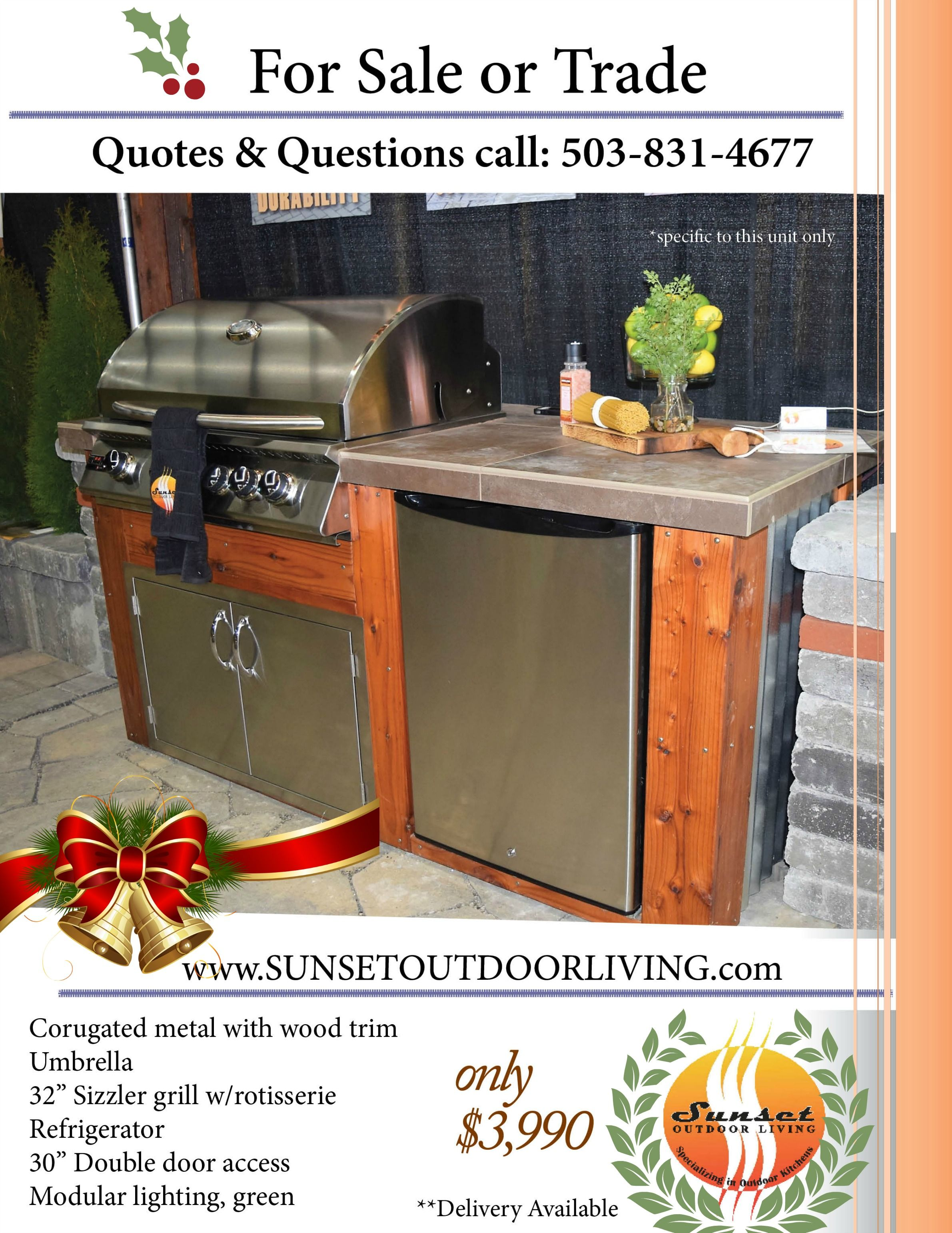 Christmas Gifts Are Ready For Delivery Outdoor Kitchen Outdoor Outdoor Living